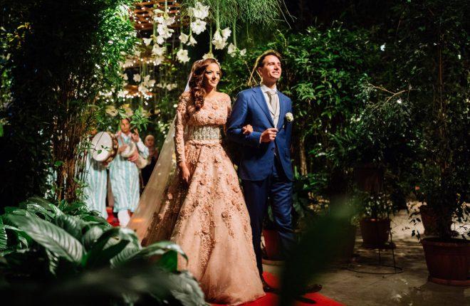 Marokkaans - Nederlandse bruiloft in het groen, grote zaal voor diner en feest (3)