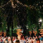 Lichtjesplafond romantisch diner voor bruiloft in de Arendshoeve